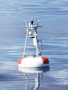 The TPOS Enhanced Surface mooring after deployment near the equator at 0o, 165oE.