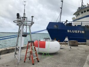 The buoy tower top after assembly in Guam prior to loading aboard the M/V Bluefin.